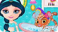 Игра Малышка Барби Ухаживает За Королевскими Животными
