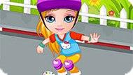 Игра Малышка Барби Упала Со Скейта