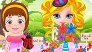 Игра Малышка Барби Устраивает Чаепитие