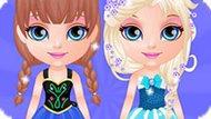 Игра Малышка Барби: Вечеринка Холодное Сердце