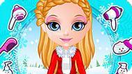Игра Малышка Барби: Зимние Косы
