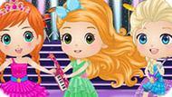 Игра Чиби Принцессы Диснея Рок-Звезды