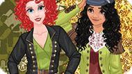 Игра Модные Принцессы Диснея: Милитари Стиль