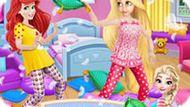 Игра Пижамная Вечеринка Принцесс Диснея
