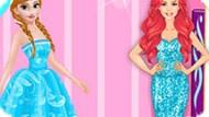 Игра Принцессы Диснея: Анна И Ариэль На Модном Шоу