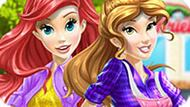 Игра Принцессы Диснея: Автомойка Белль И Ариель