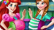 Игра Принцессы Диснея: Беременные Ариэль И Анна