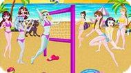 Игра Принцессы Диснея Играют В Волейбол С Монстр Хай