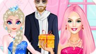 Игра Принцессы Диснея: Эльза И Барби Соперницы