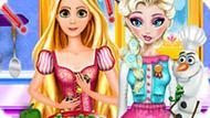 Игра Принцессы Диснея: Эльза И Рапунцель Кулинарные Соперники