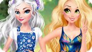 Игра Принцессы Диснея: Эльза И Рапунцель В Цветах
