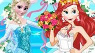 Игра Принцессы Диснея: Эльза На Свадьбе Ариэль