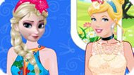 Игра Принцессы Диснея: Эльза Против Золушки