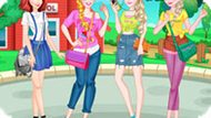 Игра Принцессы Диснея: Колледж Стиль