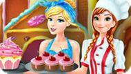 Игра Принцессы Диснея: Кондитерская Фабрика Анны И Золушки