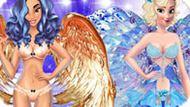 Игра Принцессы Диснея На Показе Виктория Сикрет