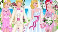 Игра Принцессы Диснея На Свадьбе Барби
