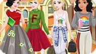 Игра Принцессы Диснея: Одевалки В Школу