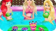 Игра Принцессы Диснея Отдыхают В Бассейне