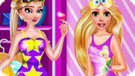 Игра Принцессы Диснея: Пижамная Вечеринка Эльзы И Рапунцель