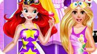 Игра Принцессы Диснея: Пижамная Вечеринка Рапунцель И Ариэль