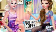Игра Принцессы Диснея Пьют Кофе