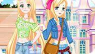 Игра Принцессы Диснея: Рапунцель И Золушка Идут В Школу