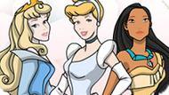 Игра Принцессы Диснея Раскраска