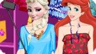 Игра Принцессы Диснея: Селфи Стиль Эльзы И Ариэль