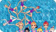 Игра Принцессы Диснея: Синхронное Плавание