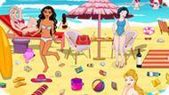 Игра Принцессы Диснея Убирают Летний Пляж
