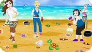 Игра Принцессы Диснея Убирают Пляж