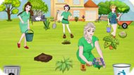 Игра Принцессы Диснея Убирают В Саду