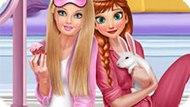 Игра Принцессы Диснея: Вечер В Пижамах