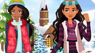 Игра Принцессы Диснея: Зимняя Вечеринка Елены И Моаны