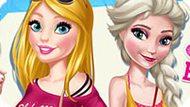 Игра Барби и Эльза подруги