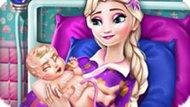Игра Беременная Эльза рожает малыша