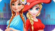 Игра Беременные Эльза и Анна делают покупки