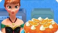 Игра Холодное сердце: Анна готовит чизкейк