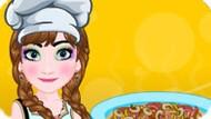 Игра Холодное сердце: Анна готовит пиццу