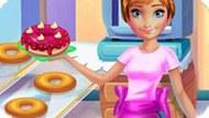 Игра Холодное сердце: Анна готовит пончики