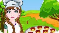 Игра Холодное сердце: Анна готовит сырную пиццу