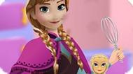 Игра Холодное сердце: Анна готовит торт