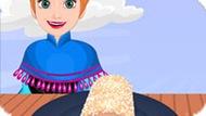 Игра Холодное сердце: Анна готовит ванильный рулет