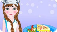 Игра Холодное сердце: Анна готовит вкусную пиццу