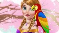Игра Холодное сердце: Анна и ее попугай