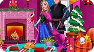 Игра Холодное сердце: Анна и Кристоф убирают перед новым годом