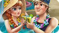 Игра Холодное сердце: Анна и Кристоф в бассейне