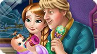 Игра Холодное сердце: Анна и Кристофф ухаживают за малышом