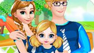 Игра Холодное сердце: Анна и семья делают покупки